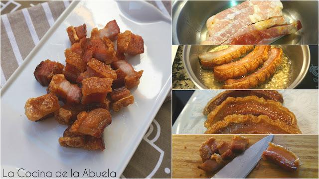 Torreznos Soria fritos aperitivo receta pasos