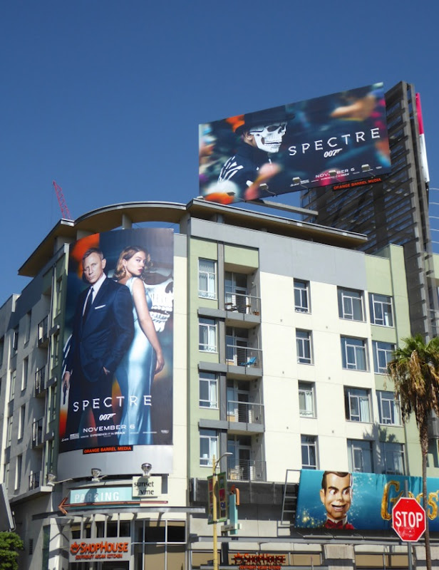 007 Spectre movie billboards