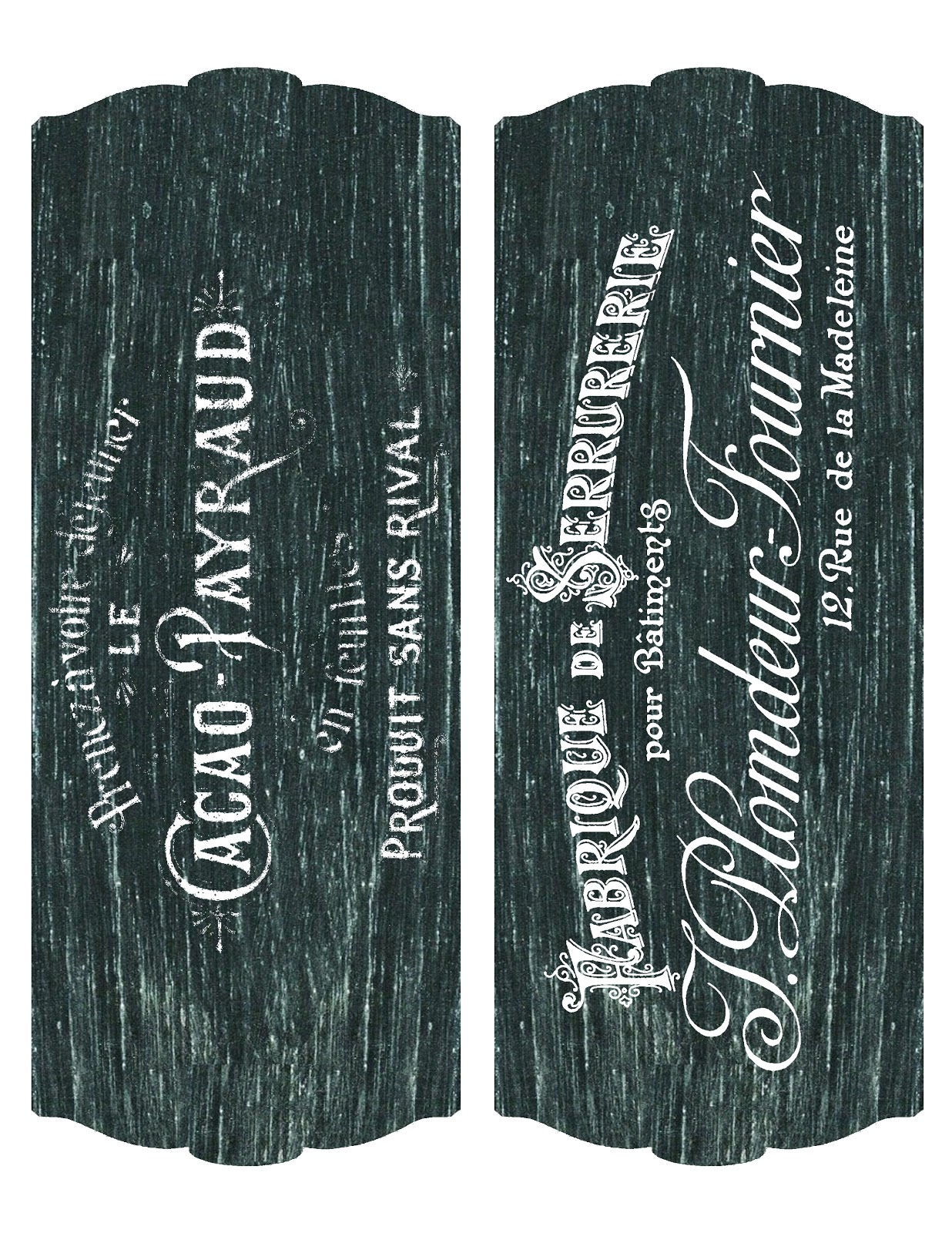 This is a photo of Playful Printable Chalkboard Labels