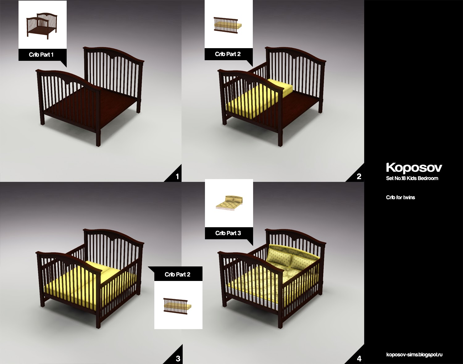Koposov Objects For The Sims Set No 18 Kids Bedroom