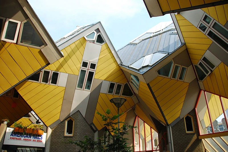 11. Cubic Houses (Kubus Woningen) (Rotterdam, Netherlands) - Top 13 World's Strangest Buildings