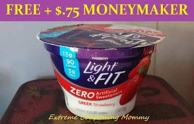 FREE + MONEYMAKER Dannon Light U0026 Fit Greek Yogurt With Zero Artificial  Sweeteners At Tops Markets