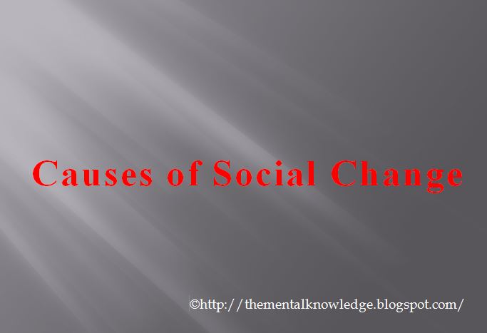 what causes social change