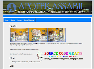 Free Download PHP Source Code Sistem Informasi Apotek
