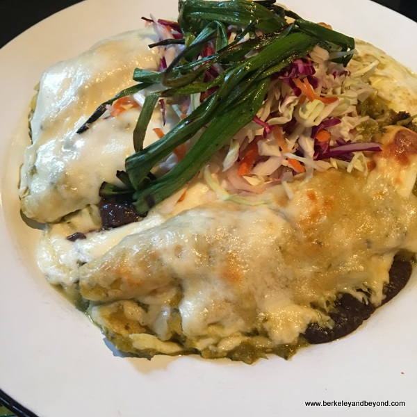 enchiladas at Cultura restaurant in Carmel, California
