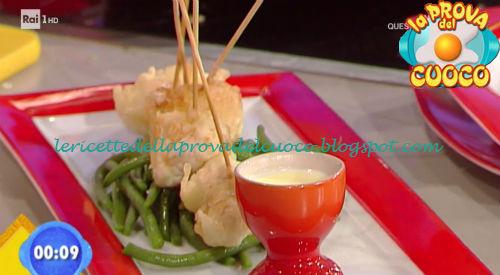 Pollo in pastella con insalata di fagiolini ricetta Giunta da Prova del Cuoco