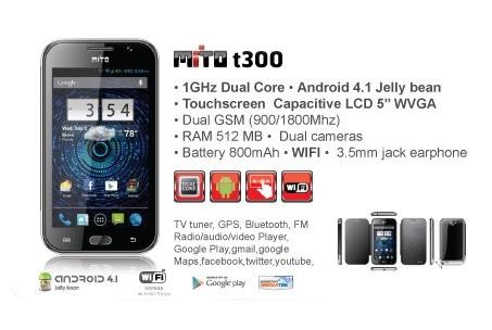 Harga HP Mito Android dibawah 1 Juta - HP Mito T300
