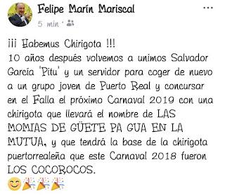 Las momias de güete pa guá en la mutua (Chirigota). COAC 2019