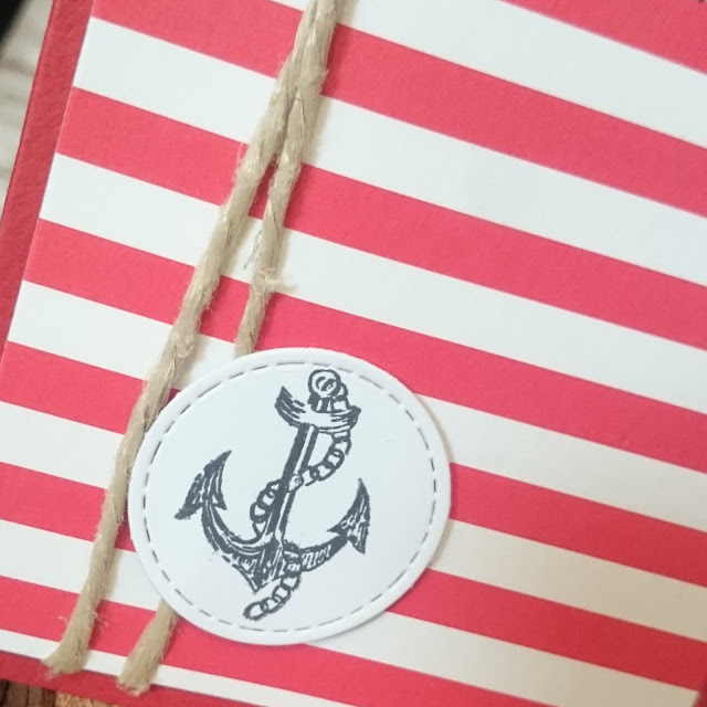 [DIY] Sea Side Birthday: Red Stripes and Anchor // Maritime Geburtstagskarte mit roten Streifen und Anker