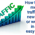 How to get more traffic on new blog or website in an easy way?