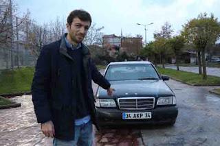 34 AKP 34' plakalı otomobilini 500 bin TL'ye satışa çıkardı