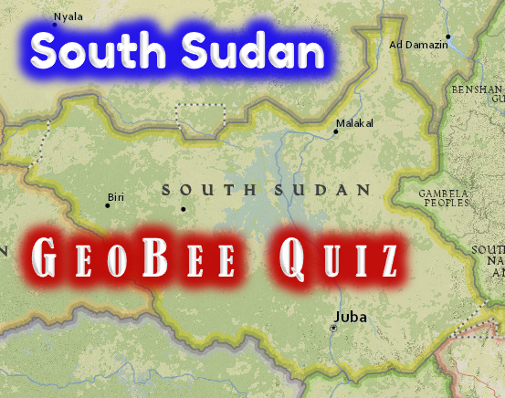 Map of South Sudan in central and eastern Africa — from National Geographic MapMaker Interactive