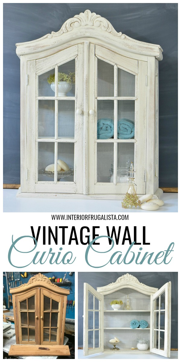 Vintage Wall Curio Cabinet Before and After