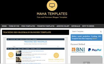 Premium Blogger Template-Mahatemplates net