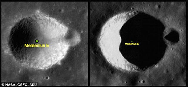 Más que claro: Solo una ilusión óptica, no existe tal torre en la Luna.