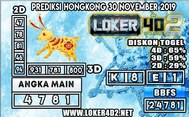 PREDIKSI TOGEL HONGKONG POOLS LOKER4D2 30 NOVEMBER 2019