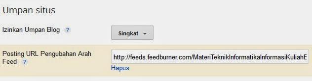 Cara Pasang RSS Feed di Blog