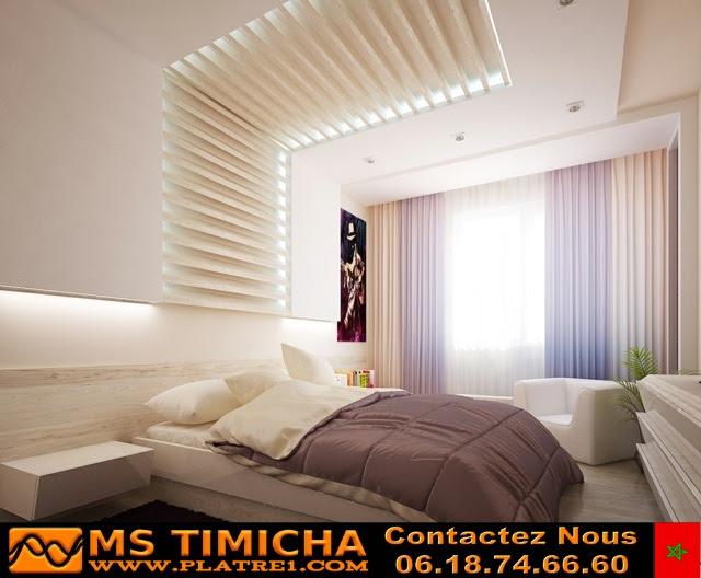 decoration plafond chambre coucher faux plafond platre marocain. Black Bedroom Furniture Sets. Home Design Ideas