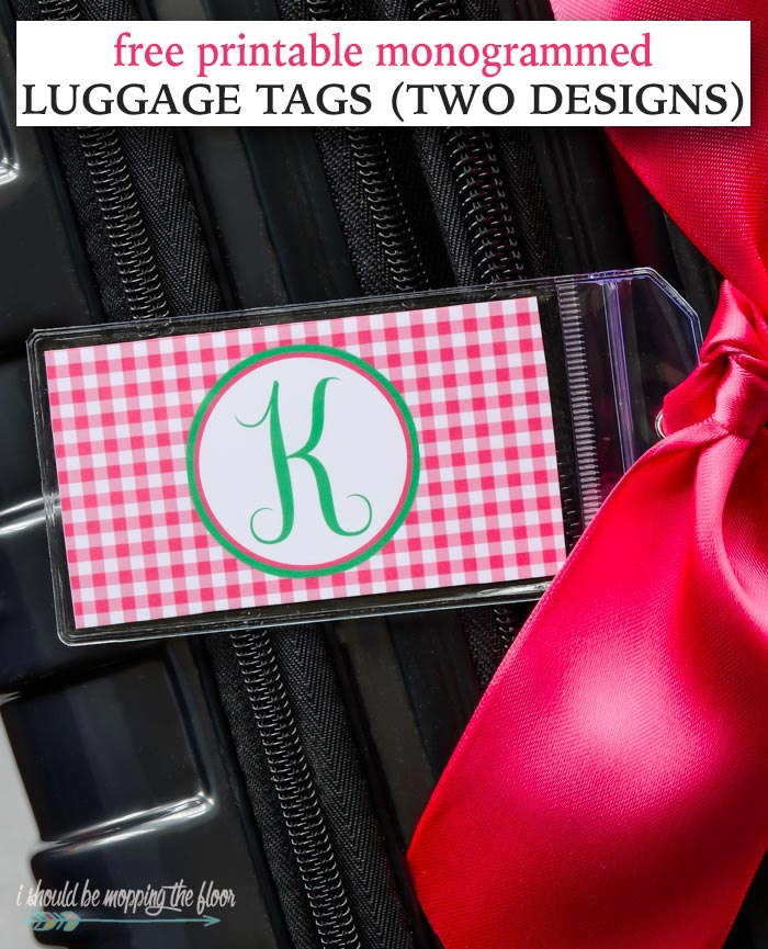 Monogrammed Luggage Tags