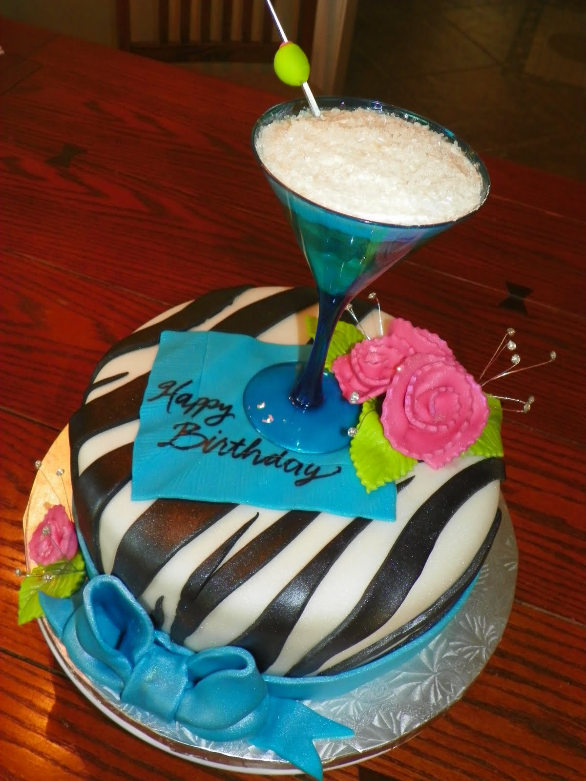 Plumeria Cake Studio: Martini Birthday Cake