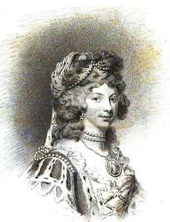 Queen Charlotte from Memoirs  of Her Most Excellent Majesty   Sophia-Charlotte, Queen of Great Britain  by J Watkins (1819)
