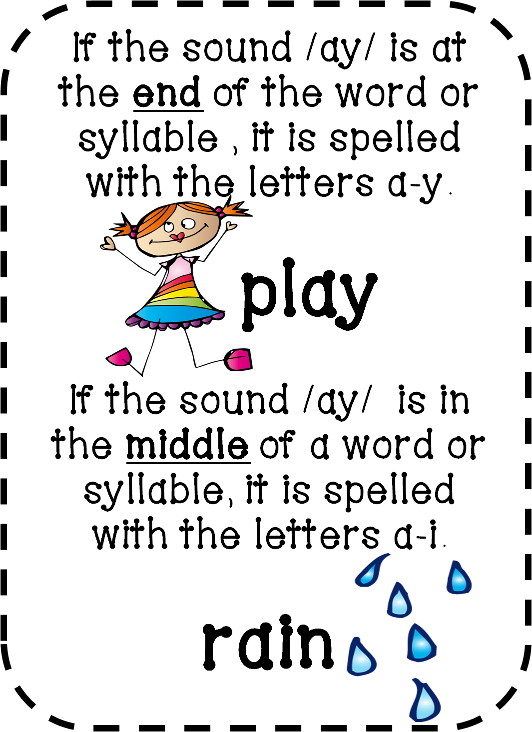 Free Ai Ay Phonics Worksheets   Printable Worksheets and Activities for  Teachers [ 1465 x 1065 Pixel ]