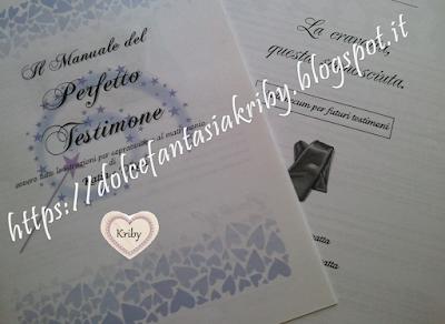 Il manuale del perfetto testimone di nozze personalizzato