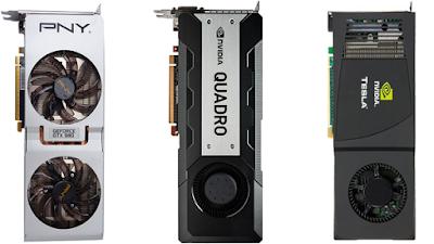 Perbedaan NVidia GeForce, Quadro & Tesla