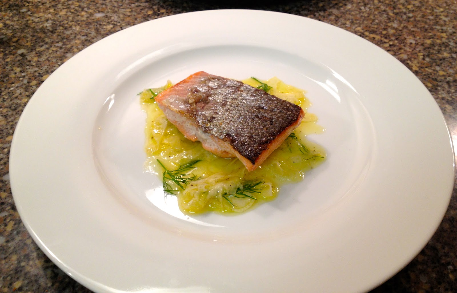 The Baked Alaska Project Pan Roasted Salmon With Fennel Salad