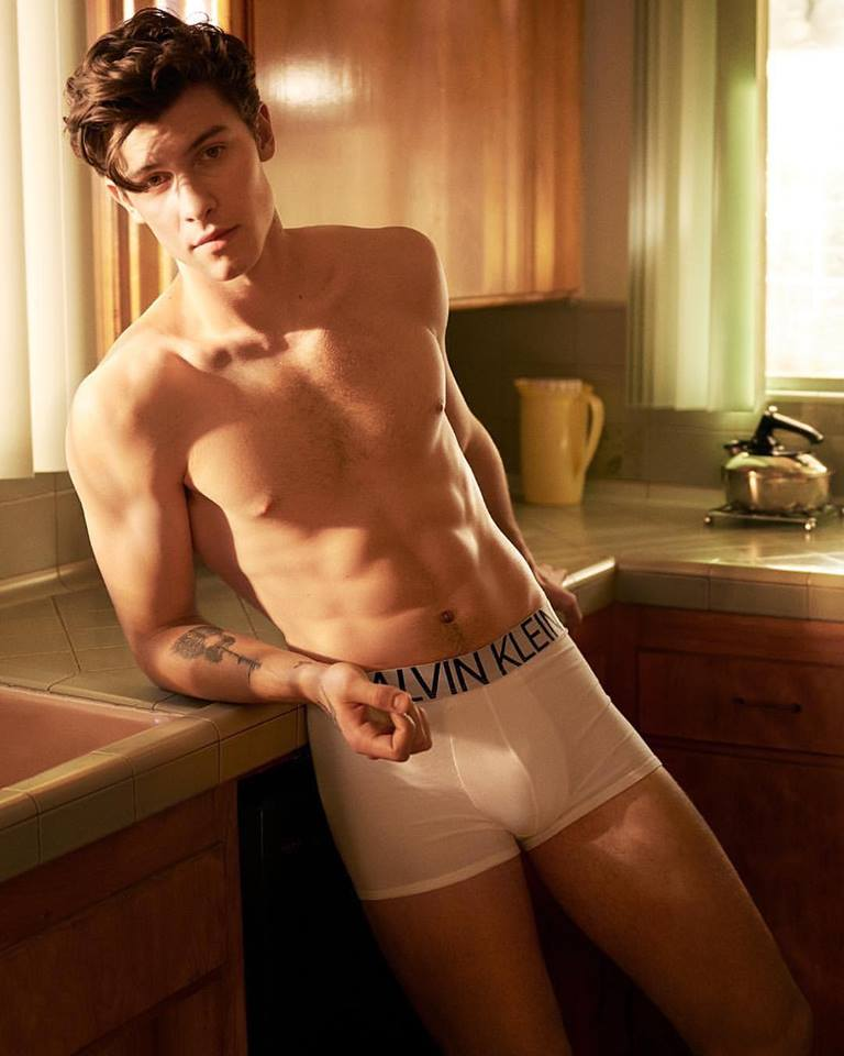 Shawn Mendes shows strips to boxers for the Calvin Klein Underwear SS2019 Campaign