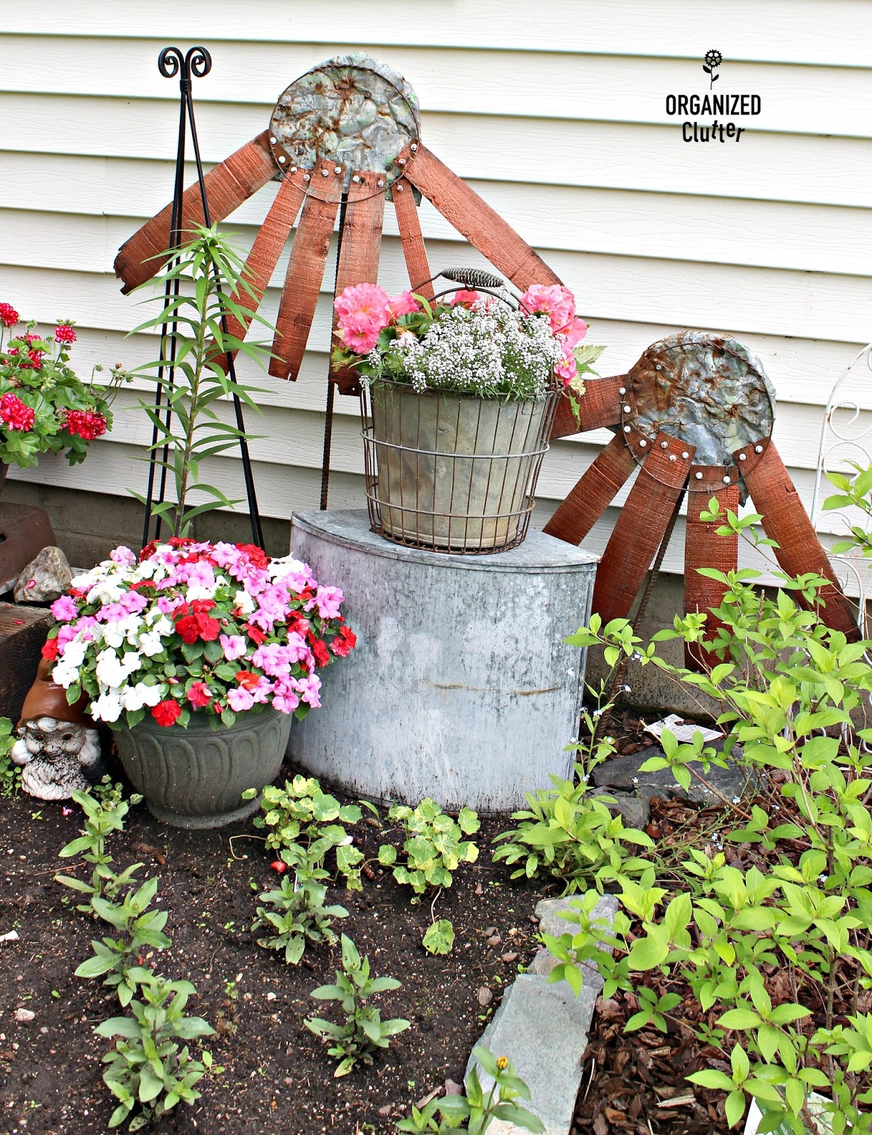 Garden Junk Decor Repurposed