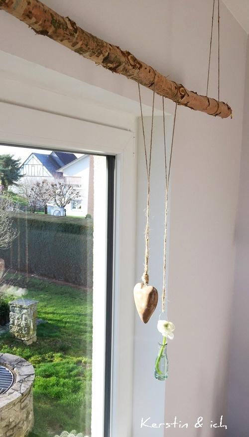 Kerstin ich wohnen baumstamm statt gardinenstange - Bad gardinen ideen ...