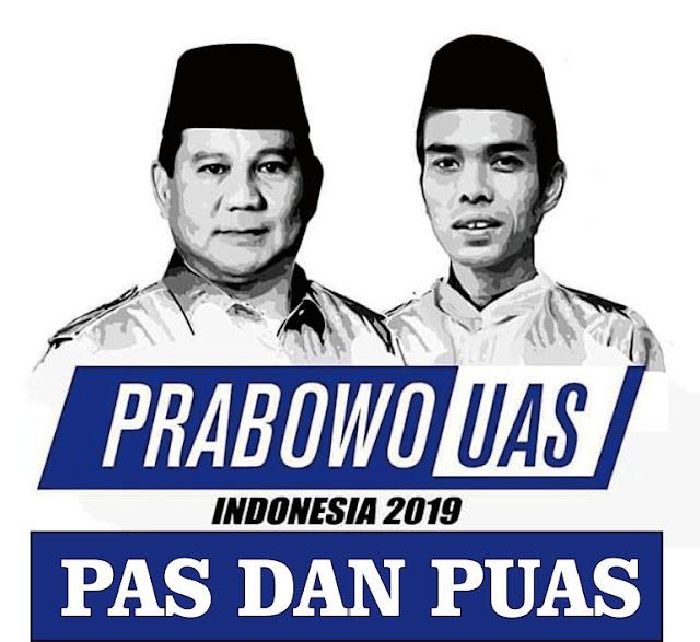 Prabowo Subianto dan Ustad Abdul Somad