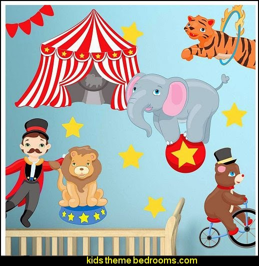 Big Top Circus Wall Decal Set By Chromantics