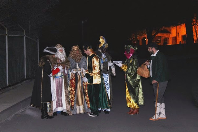 Olentzero y los Reyes Magos en Petronor