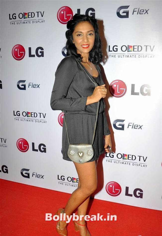 Shweta Salve, Celebs at LG G Flex Smartphone Launch