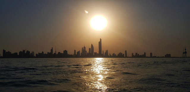 The Kuwait Skyline at Sunset