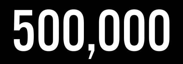 500 000 pagevews