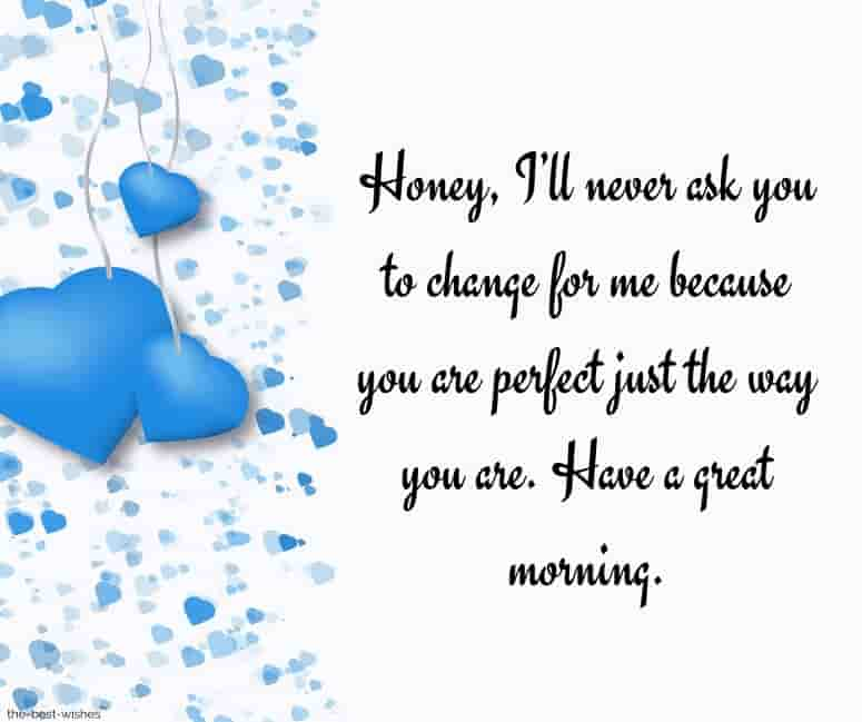 good morning love messages to my husband with blue heart