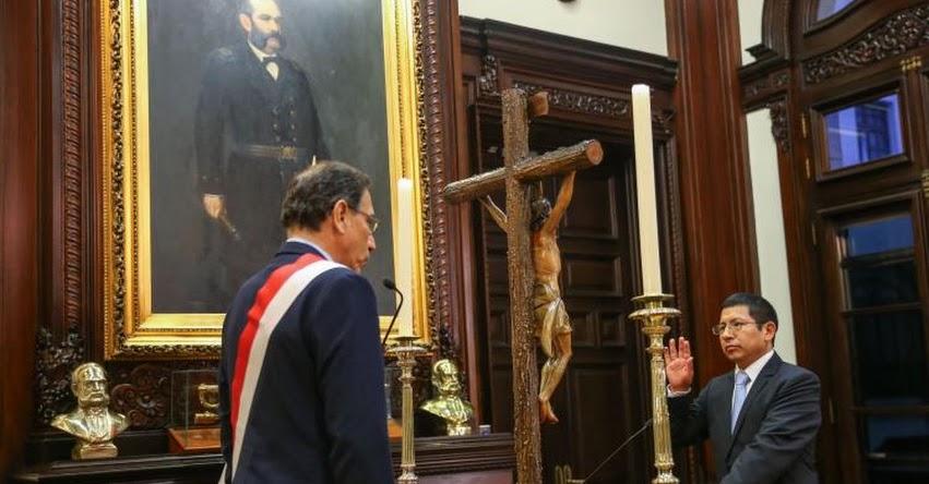 Juramentó nuevo Ministro de Transportes y Comunicaciones Edmer Trujillo Mori