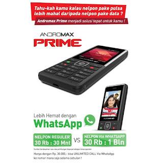 andromax prime info call