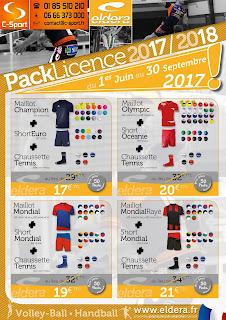 Les packs Licence Eldera pour le handball et le volley - Rentrée 2017/2018