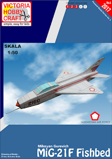PAPERTOYS MiG-21F Fishbed (AURI) Skala 1:50