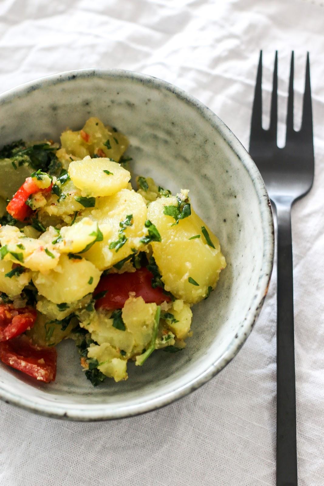 Bärlauch, Salat, grillen, Grillsaison, Kartoffelsalat, Fleurcoquet, Frühling