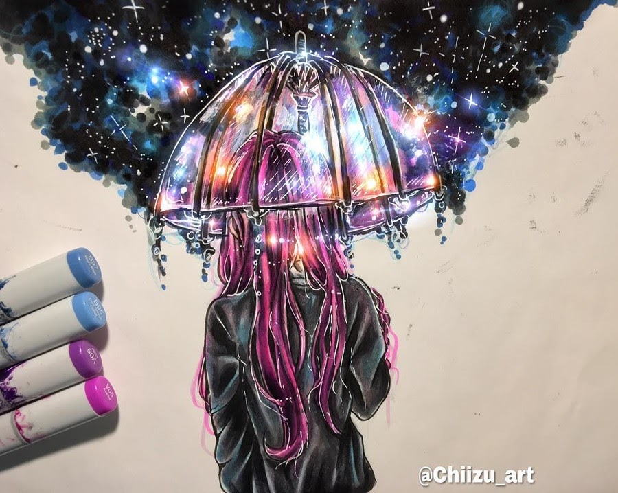 03-Alone-2-chiizu-art-Drawing-Dark-Subjects-Bursting-with-Color-www-designstack-co