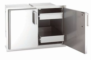 Outdoor Kitchen Firemagic Double Access Drawer Built In
