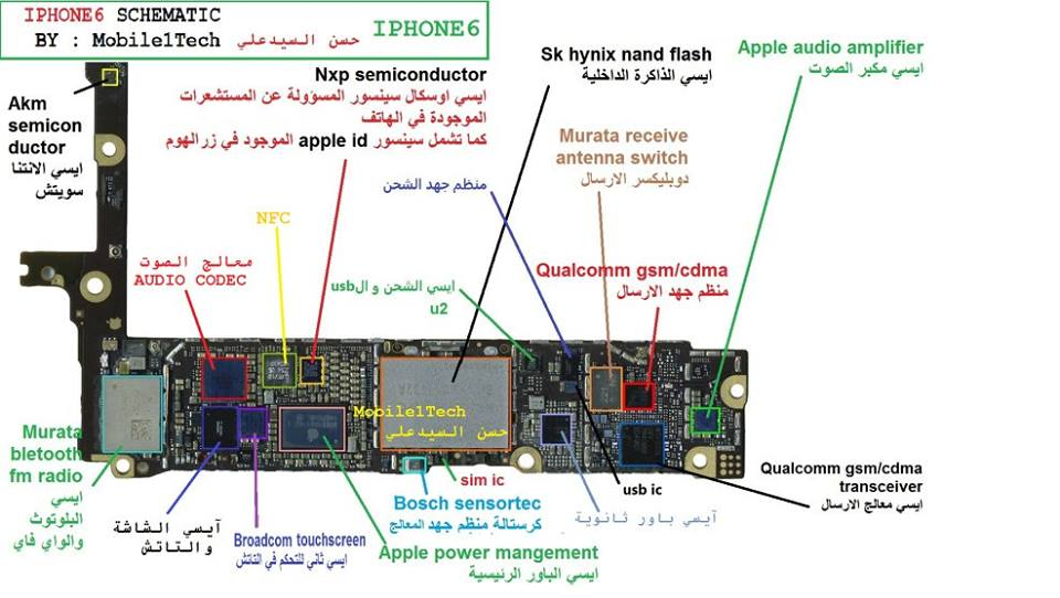 IPHONE 6 All SCHEMATIC Diagram 100% Working Jumper
