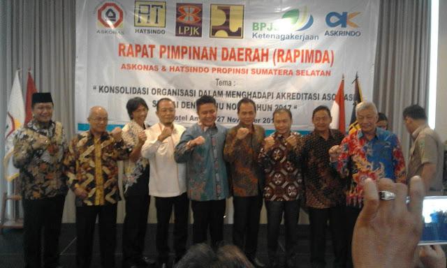 Askonas dan Hatsindo Provinsi Sumsel Gelar RAPIMDA dan Pelatihan Ahli Muda K3 Konstruksi