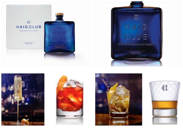 Collage of Haig Club Whiskey products