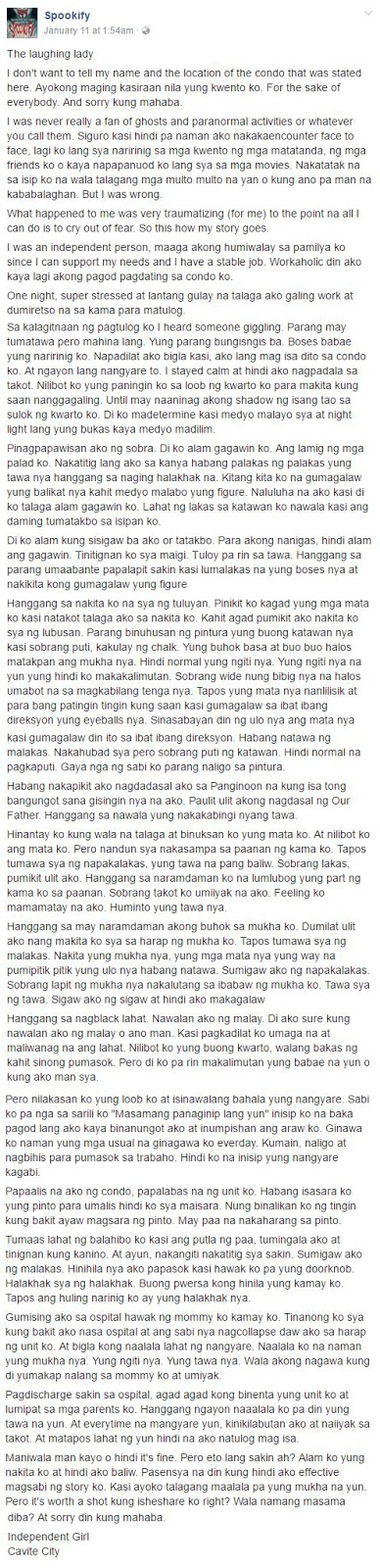 Independent Lady From Cavite Shares Her Most Horrifying Experience In Her Own Condo Unit! This Will Give You Goosebumps! Scary!